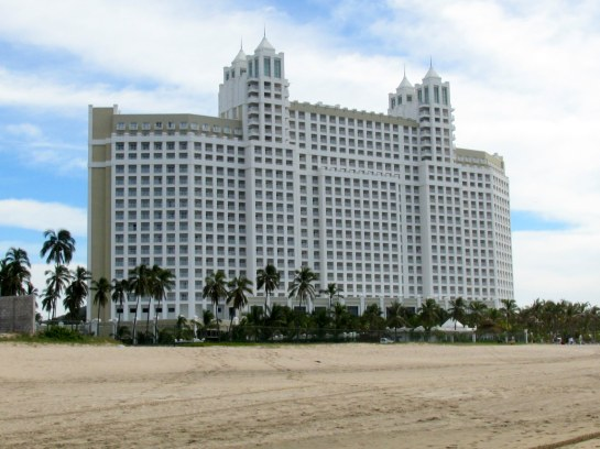 VIEW OF RIU EMERALD BAY, MEXICO FROM THE BEACH