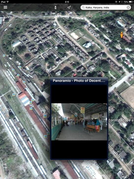 KALKA RAILWAY STATION PLATFORM Photo credit: Google Earth and Panoramio