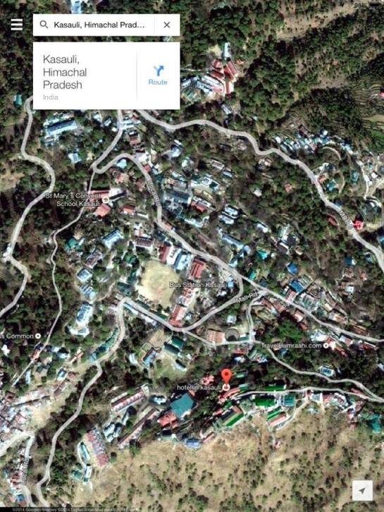CURRENT VIEW OF KASAULI Photo credit: Google Maps