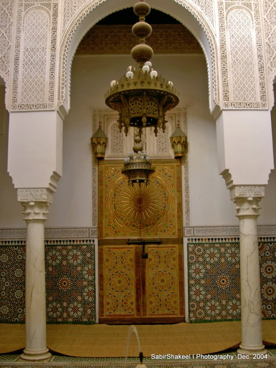 Morocco, Middle Atlas, Meknes: Moulay Ismail Mausoleum 1703