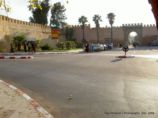 Morocco, Middle Atlas, Meknes: Bab er-Reth near Moulay Ismail's