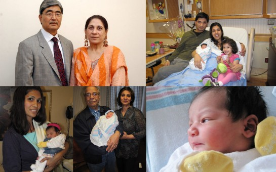 NAJMA PARVEEN WITH HER HUSBAND (LUQMAN) AND HER SON ASSAD & HIS WIFE AND HER DAUGHTER AMNA WITH HER HUSBAND AND THEIR BABY