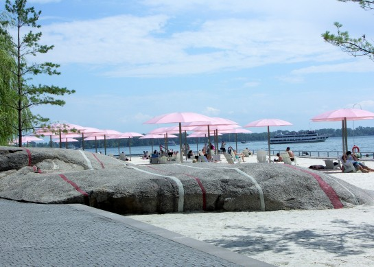 Sugar Beach on the Queens Quay East