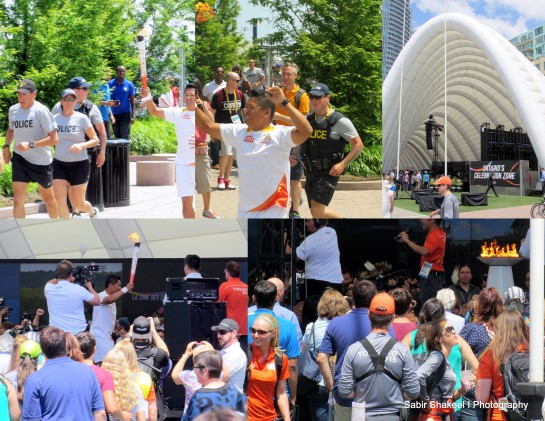 Arrival of 2015 PAN AM Games at the Aboriginal Pavilion