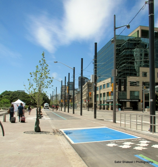 Bicyclists' Lanes on the Waterfront
