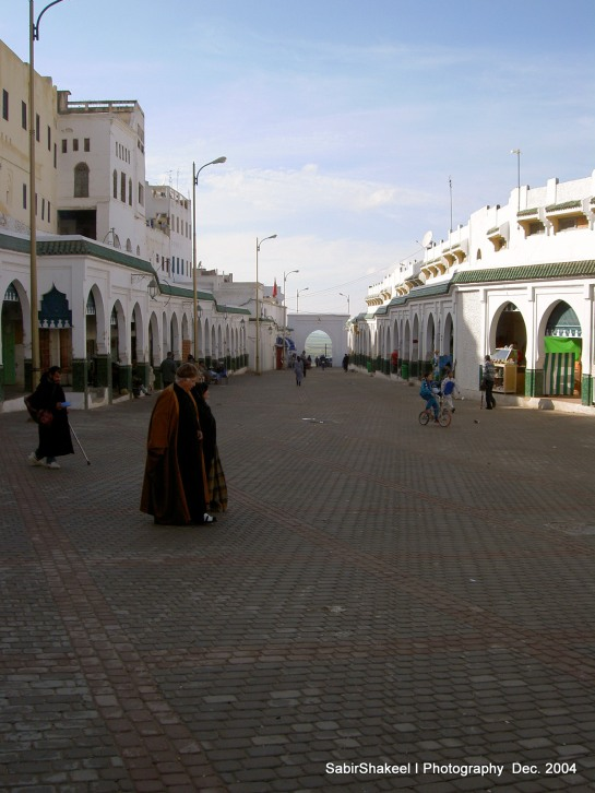 Morocco, Moulay Idris: Plaza before the Shrine of Moulay Idriss