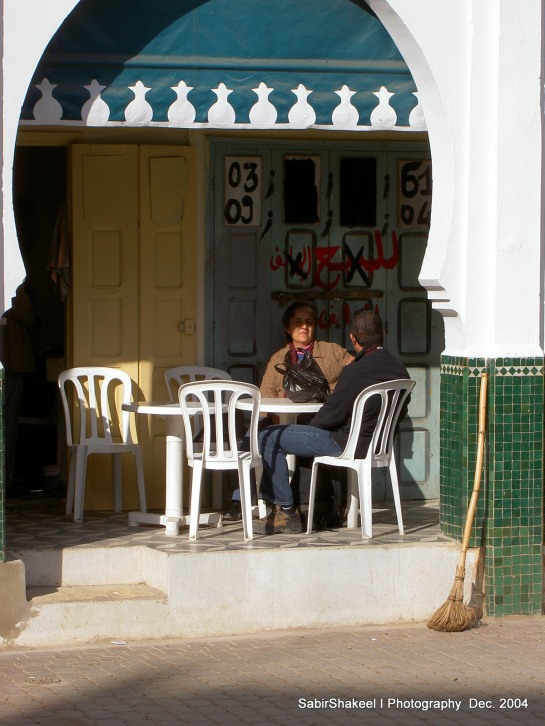 Morocco, Moulay Idris: Lunch break, waiting for kebobs